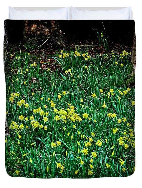 Spring Daffoldils Duvet Cover