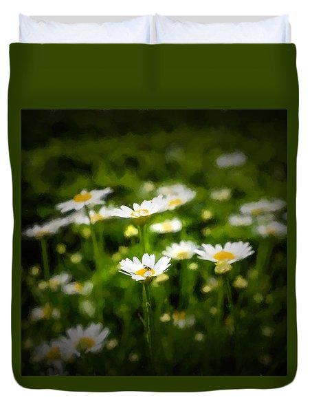 Spring Daisies - Square Duvet Cover