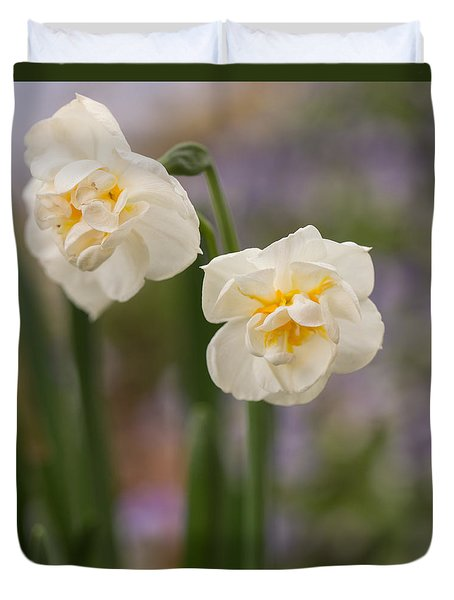 Duvet Cover featuring the photograph Spring Dance by Julie Andel