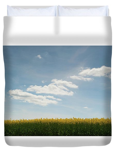 Spring Day Clouds Duvet Cover