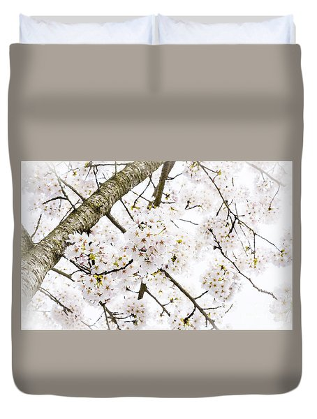 Duvet Cover featuring the photograph Spring Dogwood Blossoms by MaryJane Armstrong