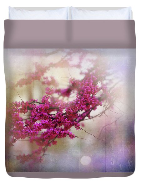 Duvet Cover featuring the photograph Spring Dreams II by Toni Hopper
