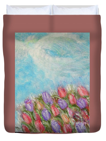 Spring Emerging Duvet Cover by Lyric Lucas