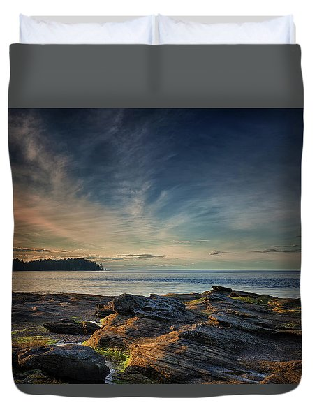 Spring Evening At Madrona Duvet Cover by Randy Hall