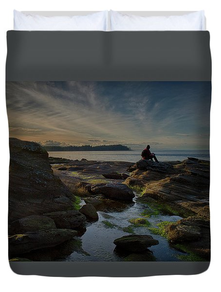 Spring Evening Duvet Cover by Randy Hall