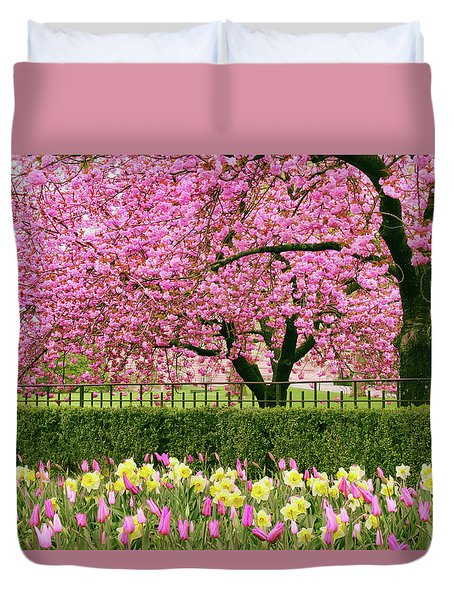 Duvet Cover featuring the photograph Spring Extravaganza by Jessica Jenney