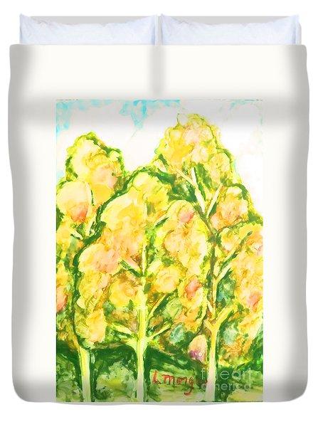 Spring Fantasy Foliage Duvet Cover