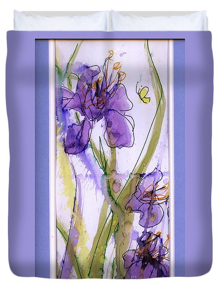 Duvet Cover featuring the painting Spring Fling by P J Lewis