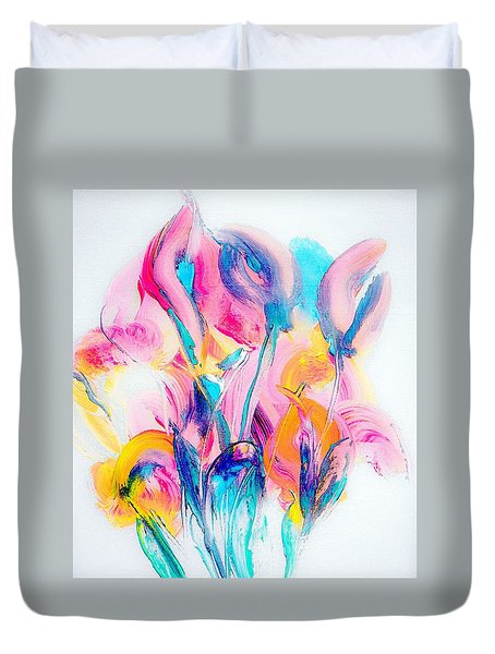 Spring Floral Abstract Duvet Cover