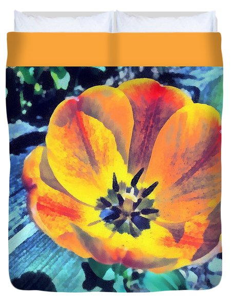 Duvet Cover featuring the photograph Spring Flower Bloom by Derek Gedney