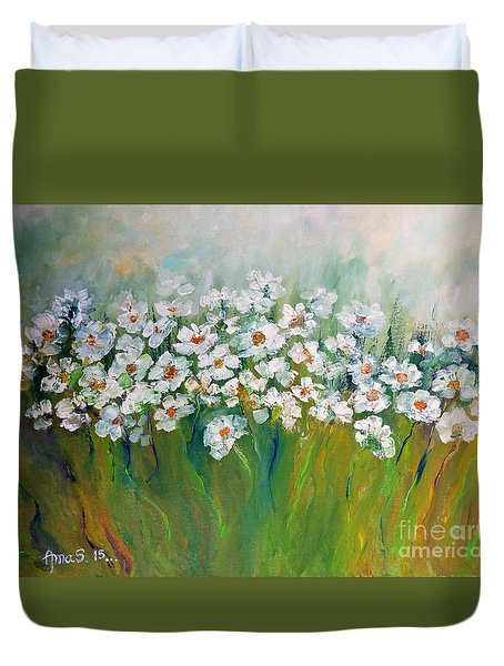 Spring Flowers Duvet Cover by AmaS Art