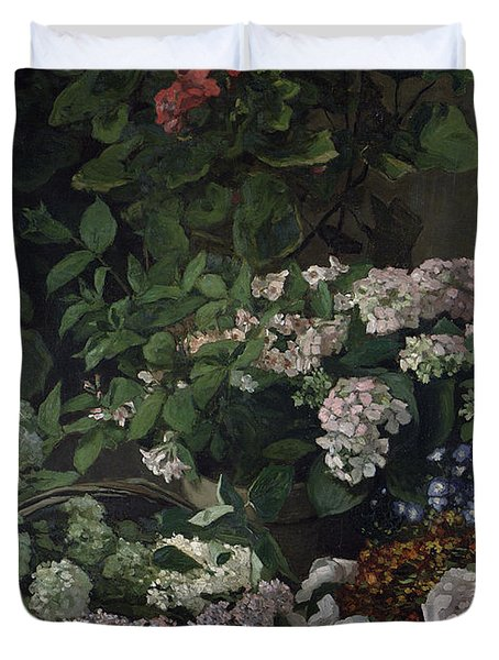 Spring Flowers Duvet Cover by Claude Monet