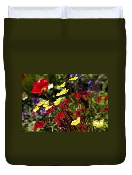 Spring Flowers Duvet Cover by Garry Gay