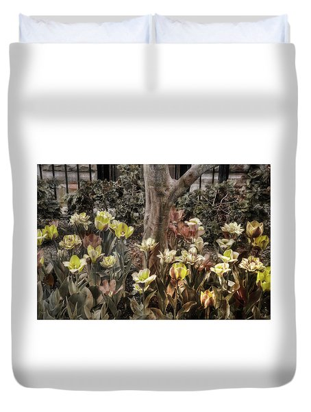 Duvet Cover featuring the photograph Spring Flowers by Joann Vitali