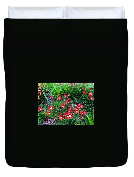 Spring Flowers Duvet Cover by Joyce Woodhouse