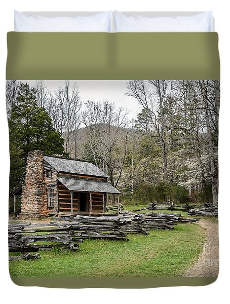 Spring For The Settlers Duvet Cover by Debbie Green