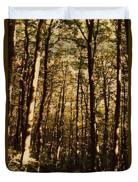 Duvet Cover featuring the photograph Spring Forest by Jean Bernard Roussilhe