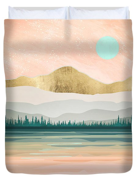 Spring Forest Lake Duvet Cover