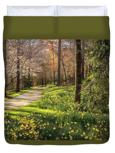 Spring Garden Path Duvet Cover