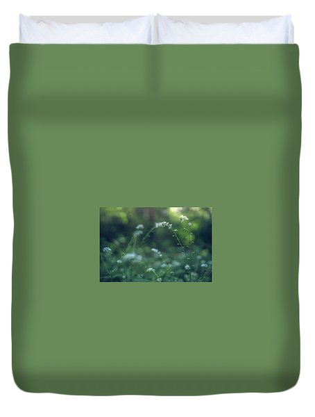 Duvet Cover featuring the photograph Spring Garden Scene #1 by Gene Garnace