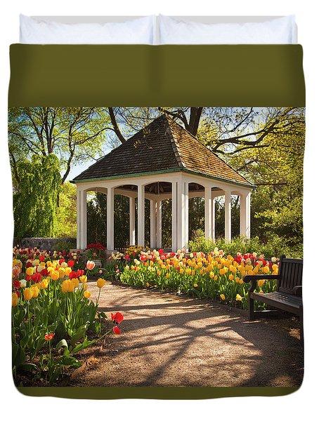 Spring Gazebo Duvet Cover