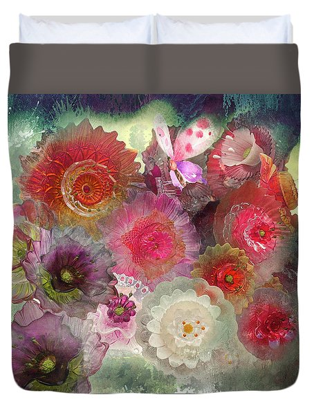 Duvet Cover featuring the photograph Spring Glass by Jeff Burgess