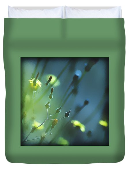 Duvet Cover featuring the photograph Spring Grass by Yulia Kazansky