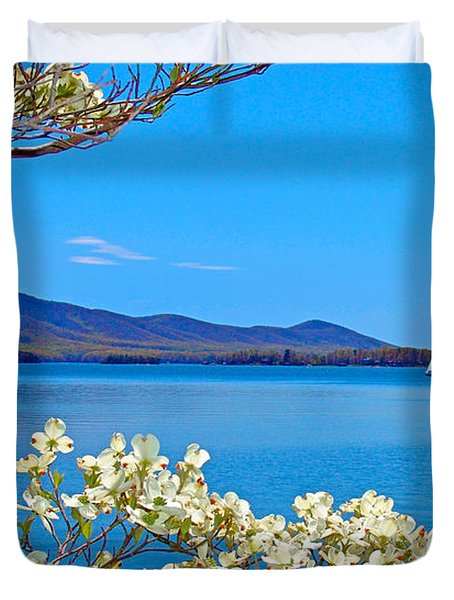 Spring Has Sprung 2 Smith Mountain Lake Duvet Cover