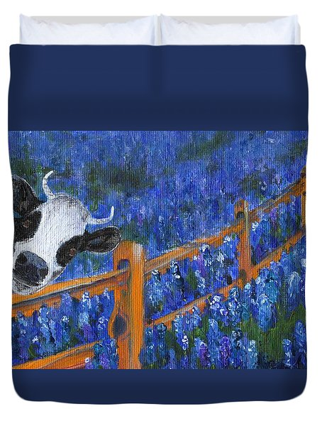 Duvet Cover featuring the painting Spring Has Sprung by Jamie Frier