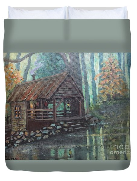 Spring House Road Reflections Duvet Cover