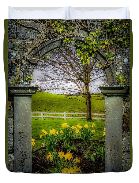 Duvet Cover featuring the photograph  Spring In Ballynacally, County Clare by James Truett