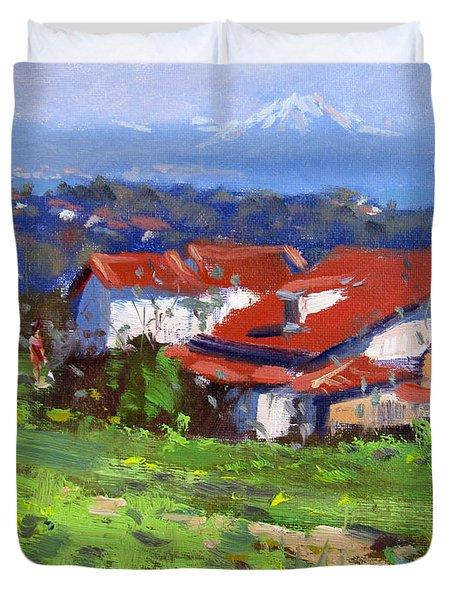 Spring In Dilesi Greece Duvet Cover