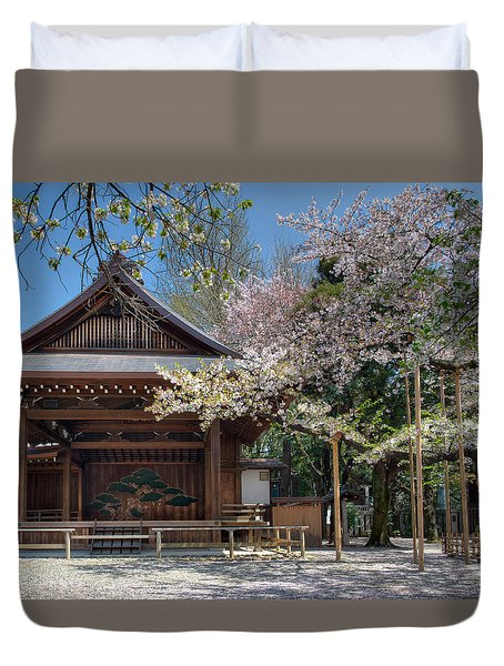 Spring In Edo Duvet Cover