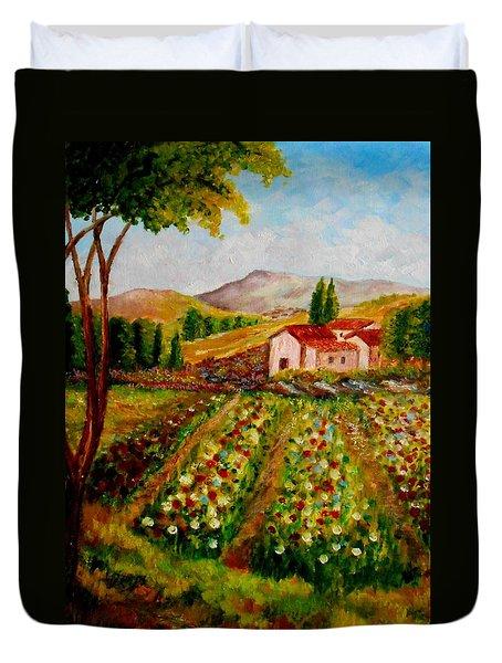 Spring In France Duvet Cover