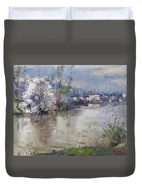 Spring In Hyde Park Duvet Cover