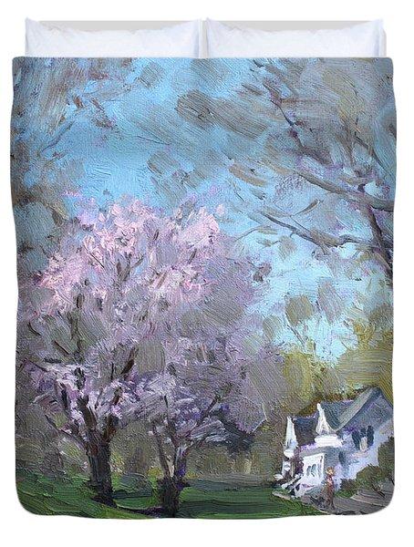 Spring In J C Saddington Park Duvet Cover