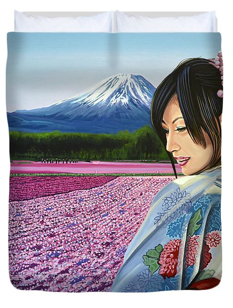 Spring In Japan Duvet Cover