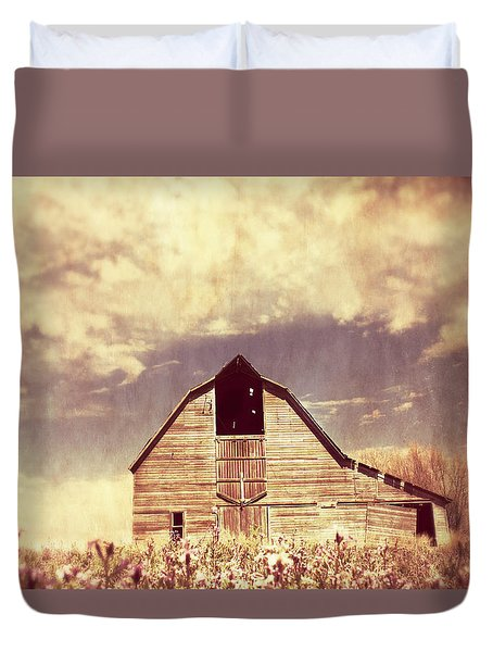 Duvet Cover featuring the photograph Spring In Kansas  by Julie Hamilton