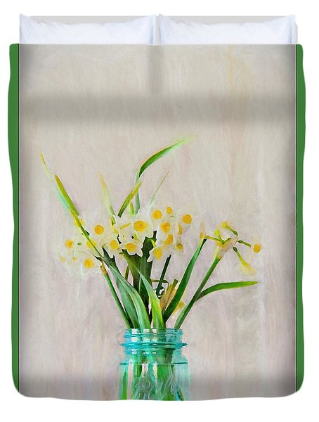 Duvet Cover featuring the photograph Spring In The Country by Benanne Stiens