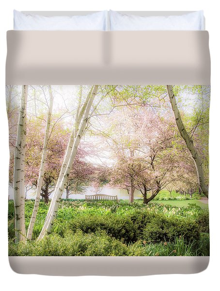Duvet Cover featuring the photograph Spring In The Garden by Julie Palencia