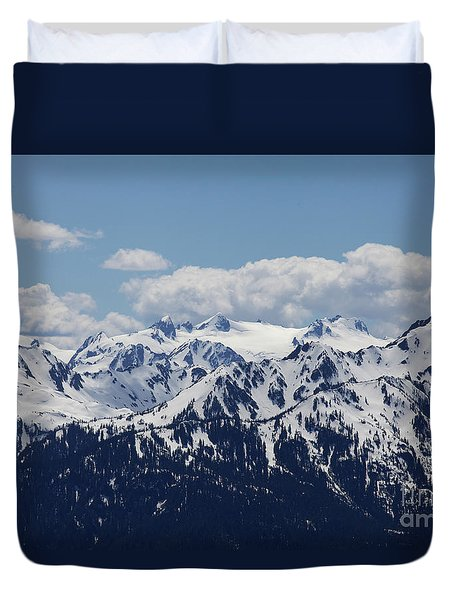 Spring In The Olympic Mountains Duvet Cover