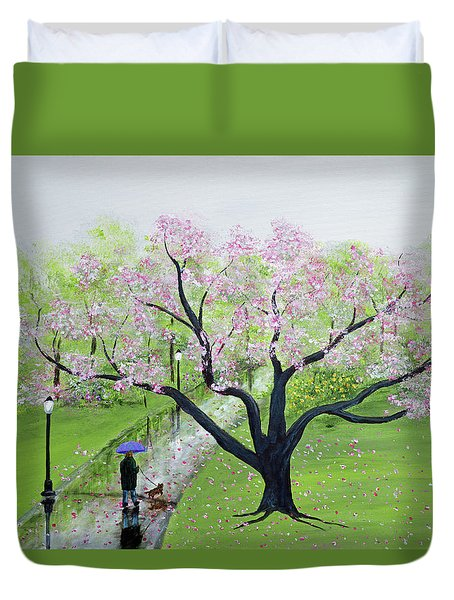 Spring In The Park Duvet Cover