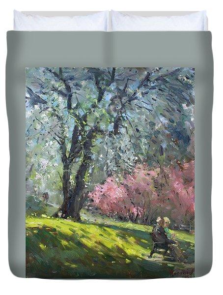 Spring In The Park Duvet Cover