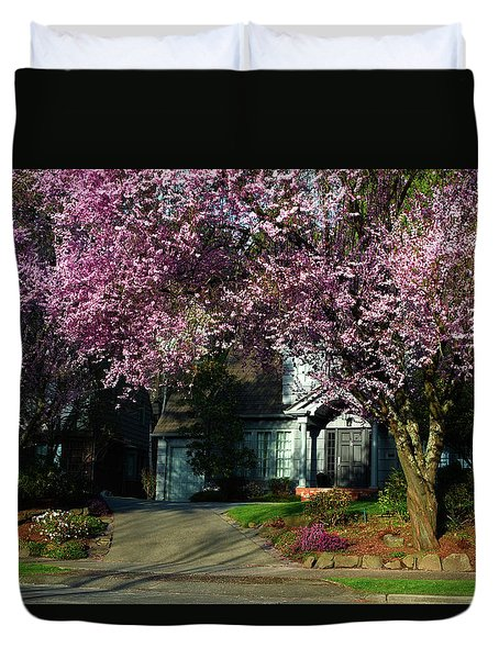 Spring In The Seattle Suburbs Duvet Cover