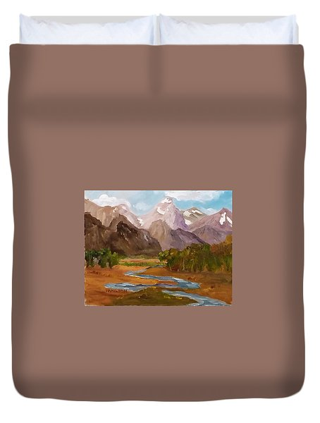 Spring In The Tetons Duvet Cover