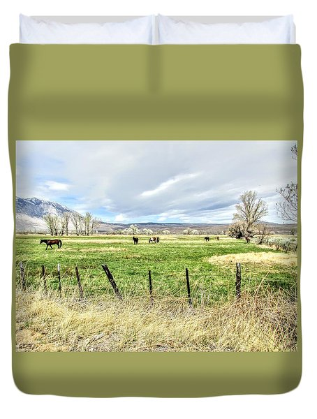 Spring In The Valley Duvet Cover