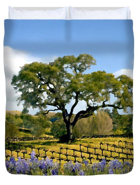 Spring In The Vineyard Duvet Cover by Kurt Van Wagner