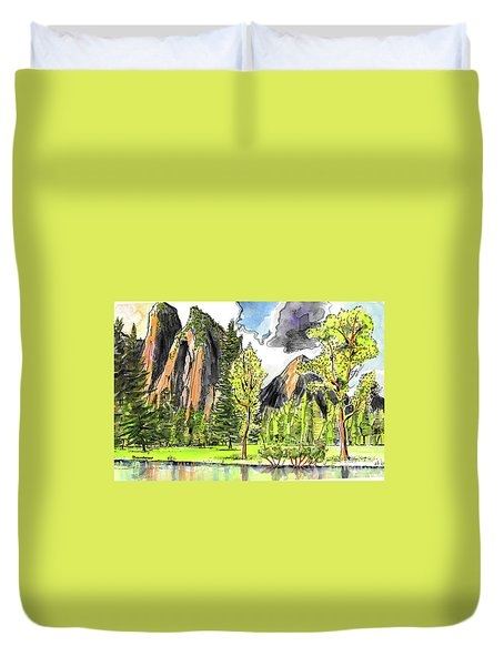Spring In Yosemite Duvet Cover by Terry Banderas