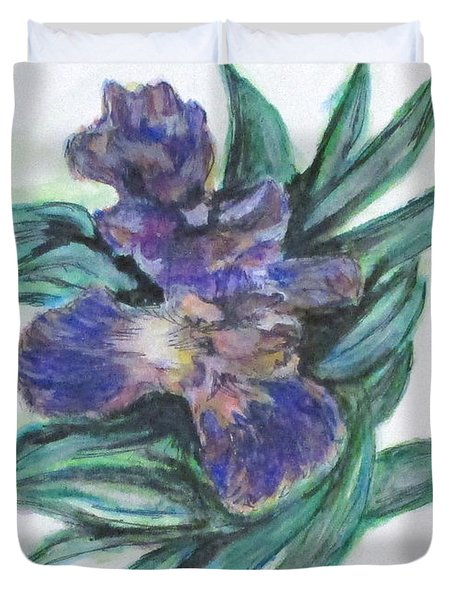 Spring Iris Bloom Duvet Cover