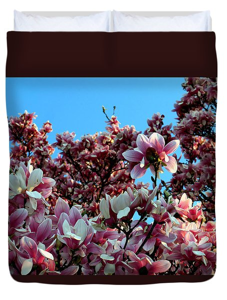 Duvet Cover featuring the photograph Spring Is Here by Dorin Adrian Berbier